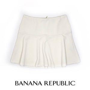 Banana republic fit flare skirt cream 8